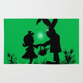 Silhouette Easter Bunny Gift Rug