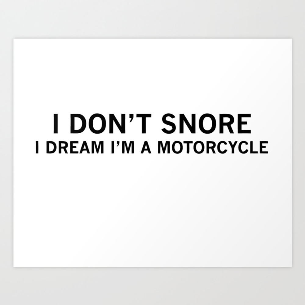 Dad Gift Motorcycle Print by Lilbro PRN8666990