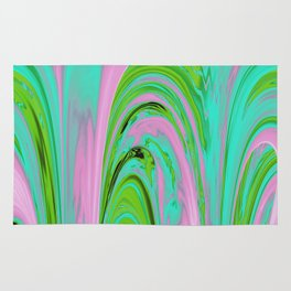 The Flaring Falls of Strine Canyons (Jungle Variant) Rug