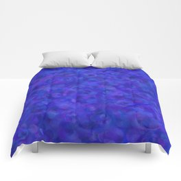 Royal Blue Floral Abstract Comforters