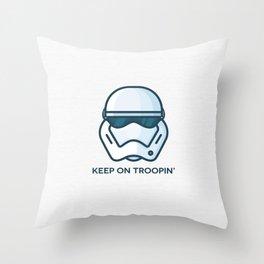 Keep on Troopin' Throw Pillow