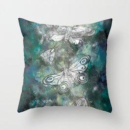 Night Moths Throw Pillow