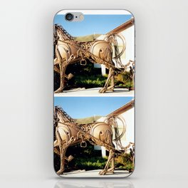 Horse & Plough by Shimon Drory iPhone Skin