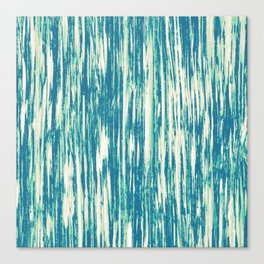 Ikat Streaks in Aqua Canvas Print