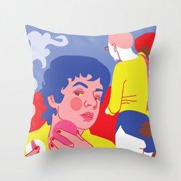 sneaky lesbians Throw Pillow