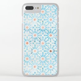 Hara Tiles Light Blue Clear iPhone Case