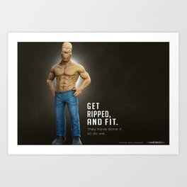Homer Simpson Gets Ripped, Poster Art Print