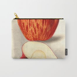 Vintage Illustration of a Sliced Apple Carry-All Pouch