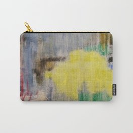 Rainy Day Grey, Rain, Water, Car, Abstract, Blue, Painting by Jodi Tomer Carry-All Pouch