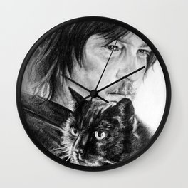 Norman and Eye In The Dark Wall Clock