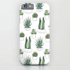 watercolour cacti and succulent iPhone 6 Slim Case
