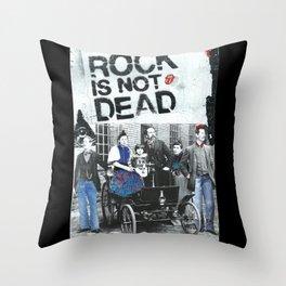 Rock is not dead Throw Pillow