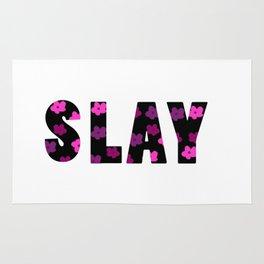 Slay Floral Font Rug