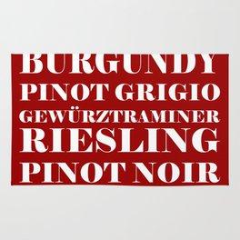 Wine Celebration - Red Rug