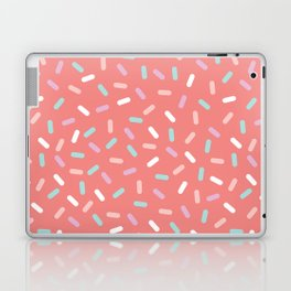 Coral Sprinkle Confetti Pattern Laptop & iPad Skin