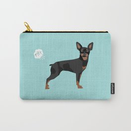 min pin miniature doberman pinscher farting dog cute funny dog gifts pure breed dogs Carry-All Pouch