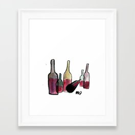 Wine Bottles 3 Framed Art Print