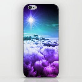 Cool Tone Ombre Clouds iPhone Skin