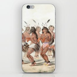 The Bear Dance by George Catlin, 1845 iPhone Skin