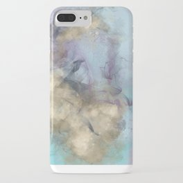 Teal, Purple, Gold Geode iPhone Case