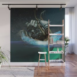 Kraken Attack Wall Mural