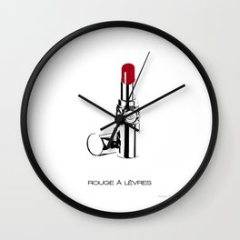 'Rouge à Lèvres' Wall Clock