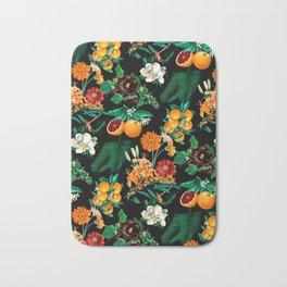 Fruit and Floral Pattern Bath Mat