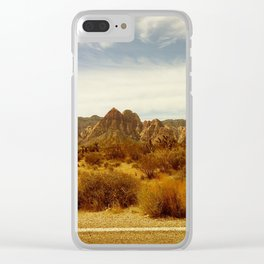Desert Red Clear iPhone Case