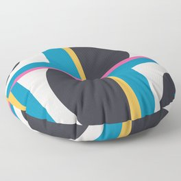 Modern Geometric 65 Blue Floor Pillow
