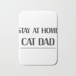 Dad Love Cat Fathers Day Cat Lover Pet Love Gifts Bath Mat