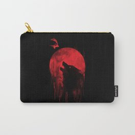 Blood moon Wolf Carry-All Pouch