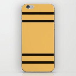 Hufflepuff Stripes iPhone Skin