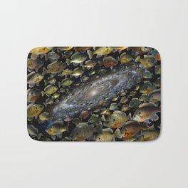 Bluegills Swim in Cosmic Pond Bath Mat