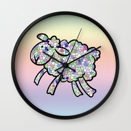 Mosaic Lamb Wall Clock