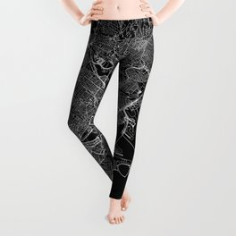 Boston Black Map Leggings