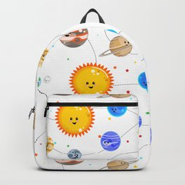 Kawaii Solar System Pattern Backpack
