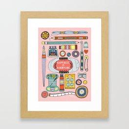 Happiness is Handmade Framed Art Print