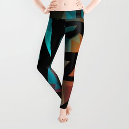 Abstract background of triangles polygon print. Leggings