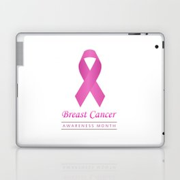 Breast cancer awareness pink ribbon- graphic to support women suffering from breast cancer Laptop & iPad Skin
