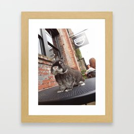 Barista in the Pearl Framed Art Print