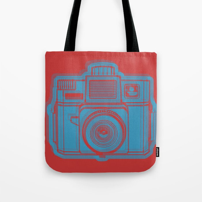 I Still Shoot Film Holga Logo - Red & Blue Tote Bag