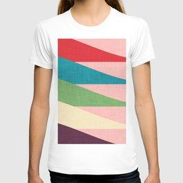 Mid century Modern Waves Pink T-shirt