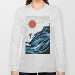 Watching the Impending Sunset Long Sleeve T-shirt