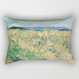 Wheatfield with Cornflowers by Vincent van Gogh Rectangular Pillow