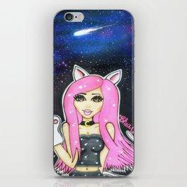 Galaxy Kitty Print iPhone Skin
