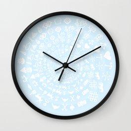 Snow & Ice Love Symbol Mandala Wall Clock