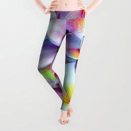 Rainbow Plumeria Leggings
