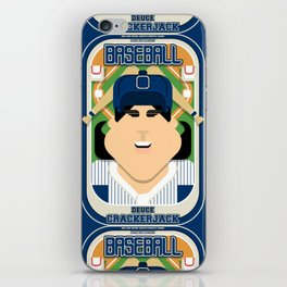 Baseball Blue Pinstripes - Deuce Crackerjack - Amy version iPhone Skin