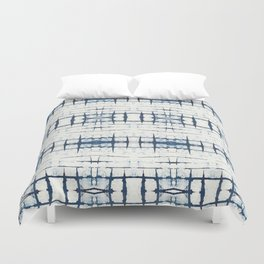 Faded Japanese Shibori Duvet Cover