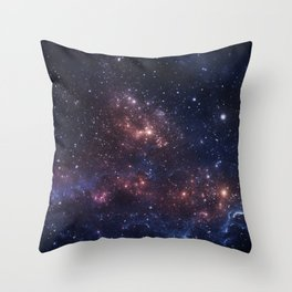 Stars and Nebula Throw Pillow